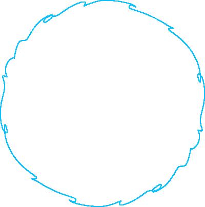 Blauer Kreis von MARCIS B2B-Agentur für digitales Marketing